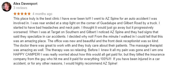 Patient Testimonial at AZ Spine